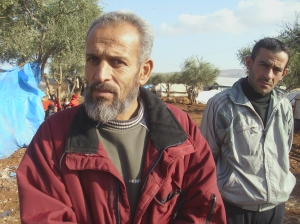 Ahmad al-Shaikh from the Bab al-Hawa camp